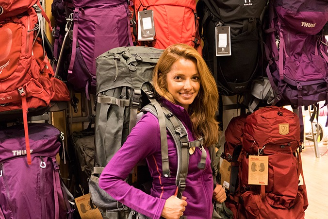 hur stor väska behöver man vandring